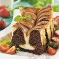 Vilma muffinipulber, Toorjuustukihiga šokolaadine brownies